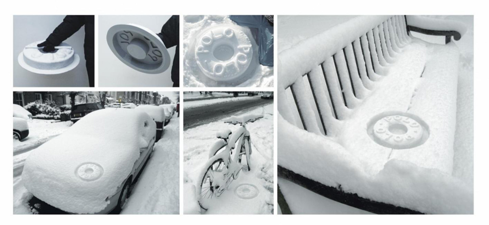 In December 2009 the entire UK was covered by a fresh, white blanket of snow. To take advantage of the fresh white snow ad agency JWT produced a tactical ambient idea for a fresh, white mint. A 'Polo snow stamp'. When stamped in thick fresh snow it left a near perfect replica of the iconic white mint.
