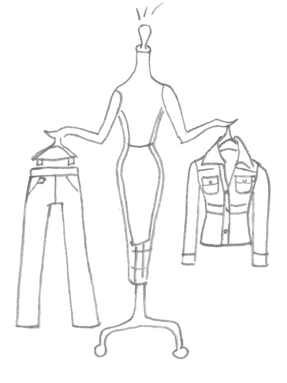 One of the Mabel drawings circa 1999 from the web site showing her Quick Picks.stacianewyork.com was one of the very first online E-commerce web sites and was featured on NBC Nightly News, Wall Street Journal, Elle Magazine, and USA Today.
