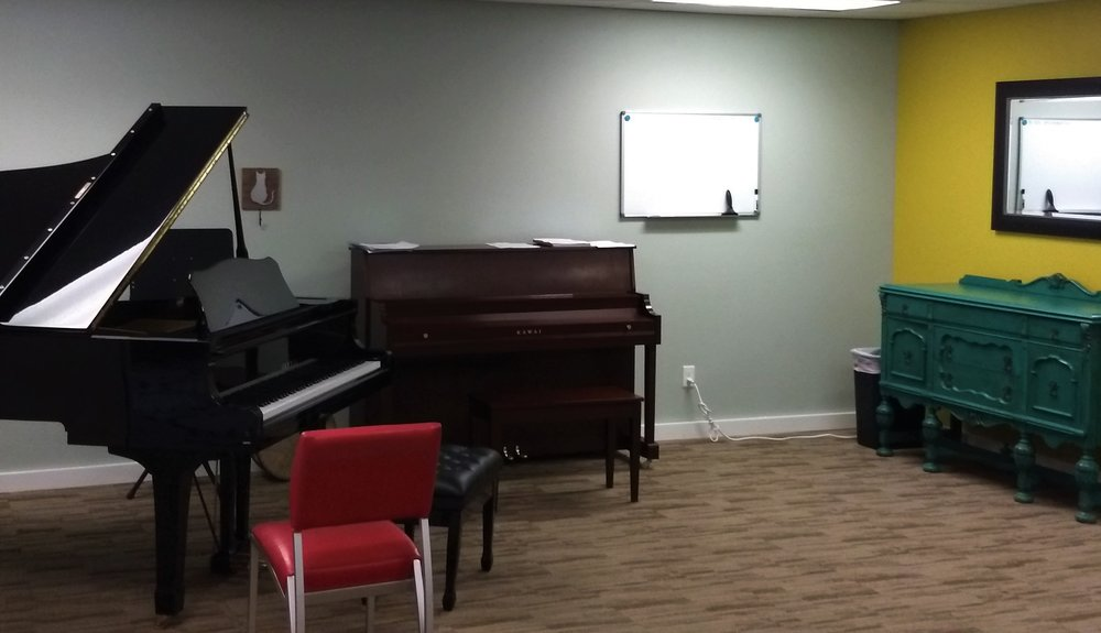 Yamaha Grand Piano and Kawai upright piano