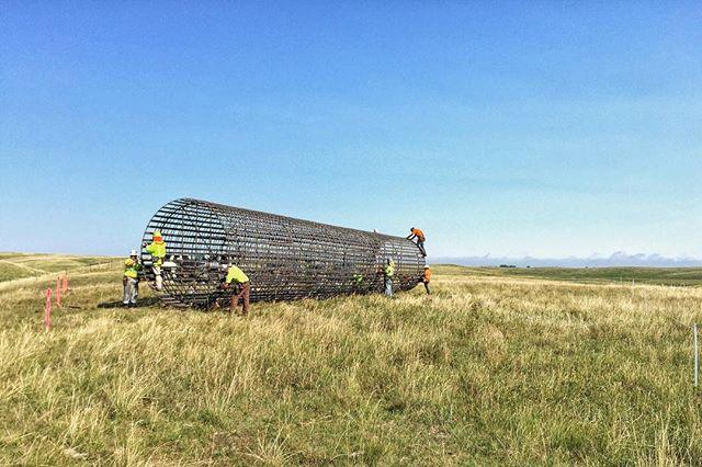 Bringing power to the federal grasslands of South Dakota | #madeinamerica #ironwork  #caissons