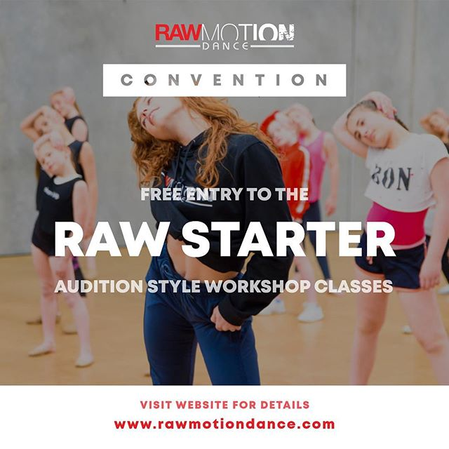 """Our TWO-DAY convention will include a FREE entry to an industry audition style class called #RAWSTARTER. In this audition, not only will dancers experience what it is like to take part in a professional industry audition, but senior dancers who """"book"""" the audition will actually have the chance to become official ASSISTANTS at future #RAWMOTIONDANCE events! Secure your spot for your chance to assist our top-notch faculty in the future.  Visit our website for more details. Link in bio!  #RAWAUSTRALIA #RAWNEWZEALAND #RAWSTARTER #RAWMOTIONDANCE #DANCE #AUDITION"""