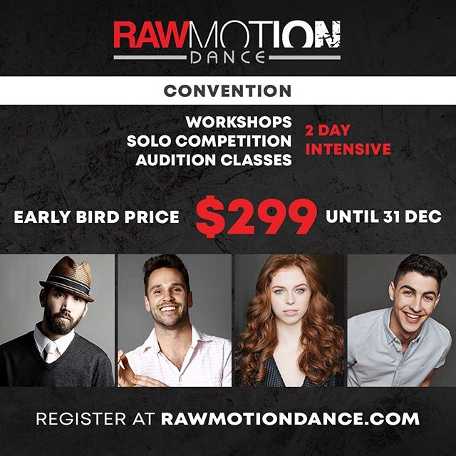 A great Christmas gift ! Early bird tickets available until 31 Dec at rawmotiondance.com