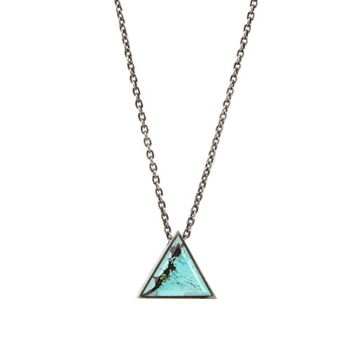 1aa5d23727a Turquoise/Tiger Eye Large Triangle Geo Locket