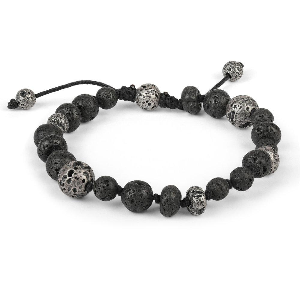 637613c88ebc5 Mix Large   Small Lava Stone Bead Bracelet — M.Cohen