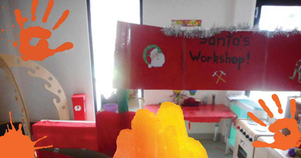 Children at St Nicholas Early Education Newcastle West celebrate christmas