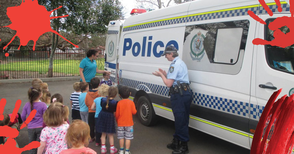 Connecting with the community: police visit St Nicholas Early Education