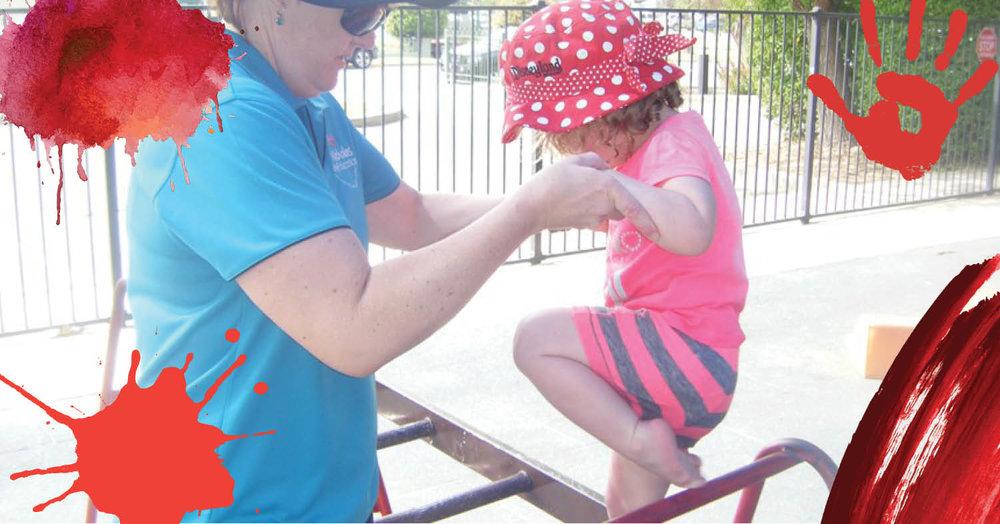 Exploring the big playground at St Nicholas Early Education Singleton