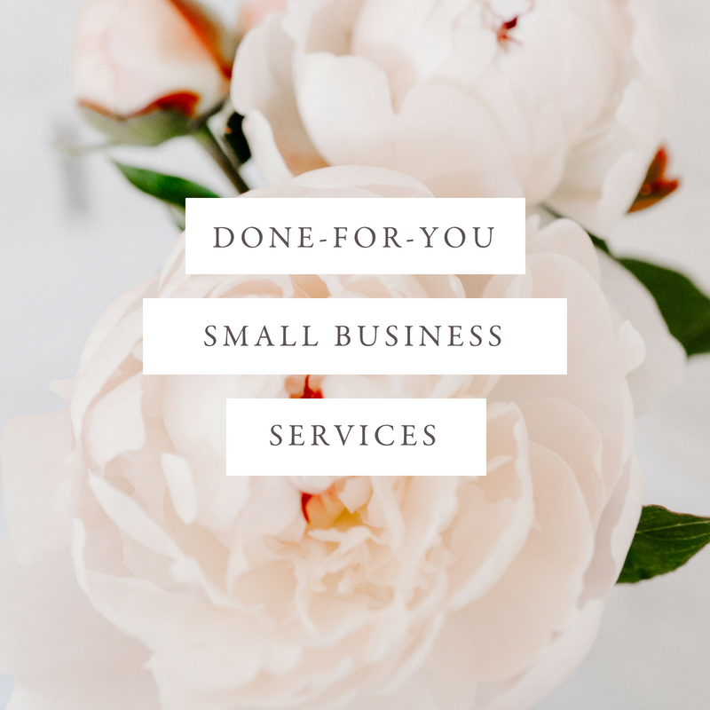 Done-for-You Services - If you're feeling bogged down by your to-do list and want to release the burden of needing to do it all yourself, then done-for-you business support is just the thing you're looking for. Each month of done-for-you support includes one 60-minute call and 5 hours of small business support services.
