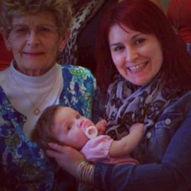 (me and my Gram, with my niece Julia)