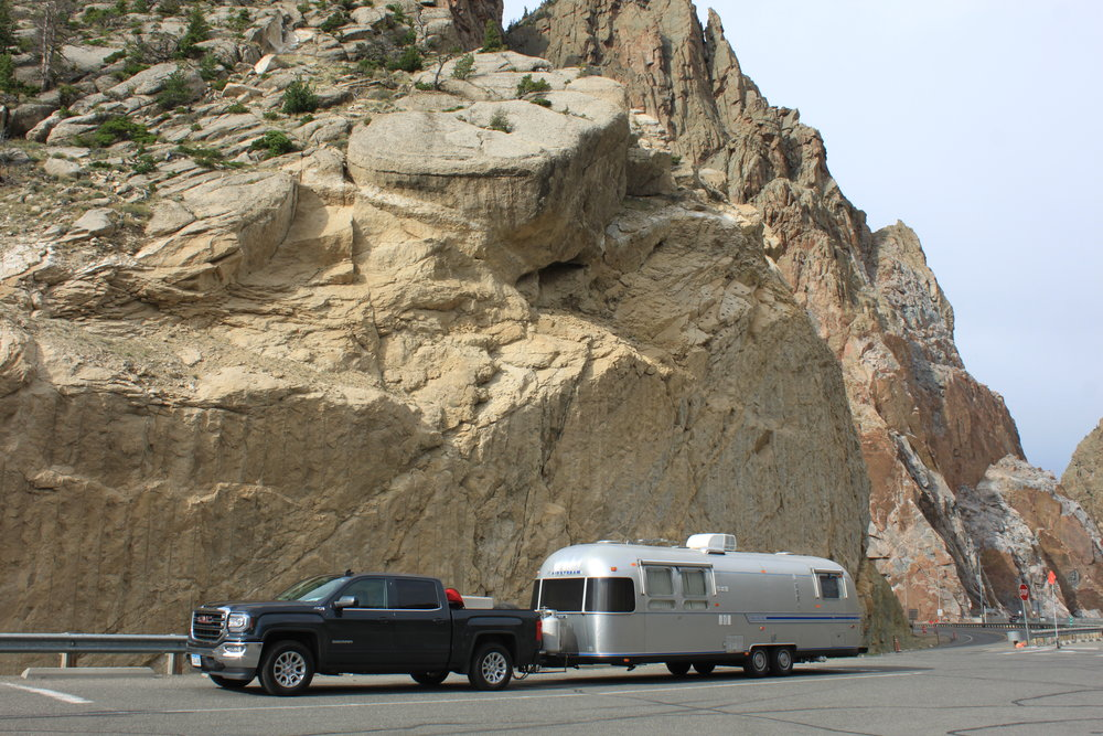 """Loretta June: - She's the newest member of the family! Ohhhh my poor, sweet, hard working Doc Whiskers….I've always told him I'd love to own an Airstream, and after his initial """"I can't believe we're buying an Airstream"""" face…. We now have Loretta June Meeks. Honestly it was love at first sight, and truly a chance encounter that we met Bob and Sharon (new-found friends from Texas I might add) to buy her. She's already traveled over 4,000 miles in the first year we've owned her and well…. lets just say she still looks pretty damn good for an '83 model. Thank you Bob and Sharon for loving Loretta June and us!"""