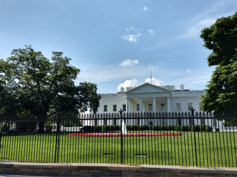 The back of the White House