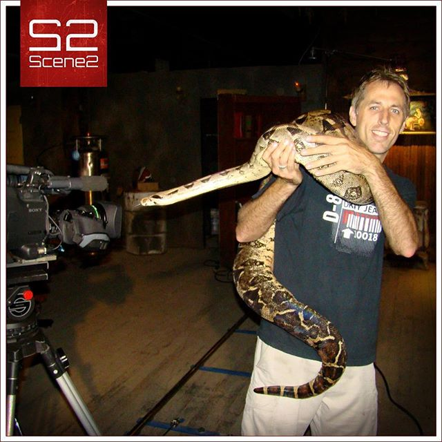 What happened when this snake tried to photo bomb our video shoot??? Well, we had to remove the snake!  No problem here, guys, @shauncloud has everything under control... sort of!  #scene2 #videoproduction #photography #kansascity #snake #photobomb #behindthescenes #setlife