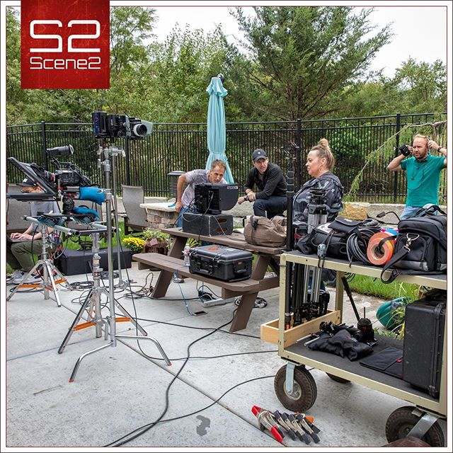 Organized chaos... there is no other way to explain what it looks like behind the scenes!  Yet, somehow everything always looks perfect again when we leave. :-) #scene2 #videoproduction #kansascity #setlife #behindthescenes #commercial #television