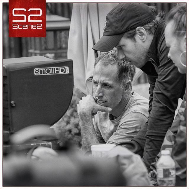 """Working with the Director to set the frame and block the scene... I have to say that every client we've worked with since purchasing the @smallhd 17"""" 1703 P3X monitor has absolutely loved it.  As a Production Manager and Director of Photography, I love it, too!  It has made a significant contribution on our sets. #scene2 #setlife #behindthescenes #videoproduction #kansascity #contentcreator #businessbuilder"""