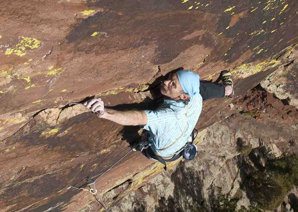 Roger BriggsFounder - Roger Briggs is a legendary Colorado climber, educator and activist who founded the BCC to build a culture of stewardship and community among climbers, land managers, volunteers and supporters.With groundbreaking first ascents on the Diamond of Longs Peak and in Eldorado Canyon, Roger is in a league of his own. Following a 30-year career as an acclaimed high school physics teacher, Roger continues to mentor and inspire. He developed educational programs in collaboration with NOAA and CU, and authored Journey to Civilization: The Science of How We Got Here, a science-lover's compendium.Through the BCC, Roger has led the climbing community to realize his vision of a more environmentally responsible and sustainable future.Here's a great profile and interview of Roger by our own Sarah Fountain.Photo: Roger Briggs on Incarnation - Eldorado Canyon (5.12 c/d) by Cody Blair