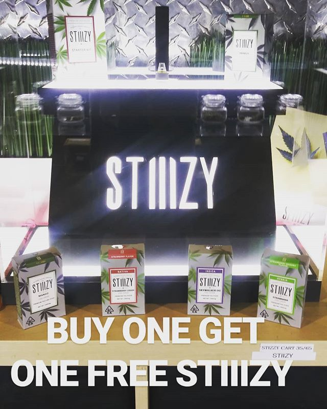Stop by and get 20% off CBD, BUY ONE GET ONE FREE STIIIZY AND $5 for an 1/8th of House Shake