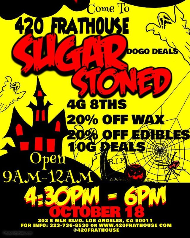 SUGAR STONED WILL BE HERE FROM 4:30-6PM RUNNING DOGO DEALS ON ALL THEIR EDIBLES!! 🍭🍬🍡 Also we're doing 4G 8THS ALL DAY!!!! 🥦🥦🥦 #weedstagram420 #cannabiscommunity #halfgramupgrade #4grameighths #smokeweedeveryday #420 #420life #indica #hybrid #sativa
