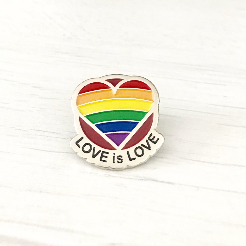 LOVE is LOVE Enamel Pin Badge - £6 + P&P eachDiscounts available for multiple orders of 50, 100, 150+Bespoke backing cards available for wedding favours