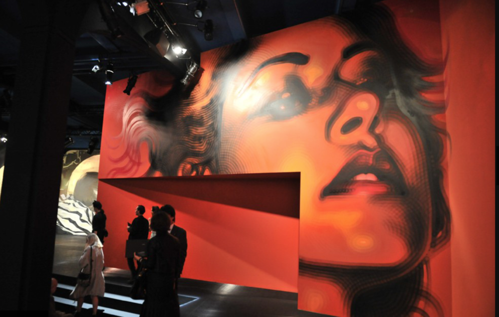 Prada's Spring Collection runway by commissioned Contemporary Artists