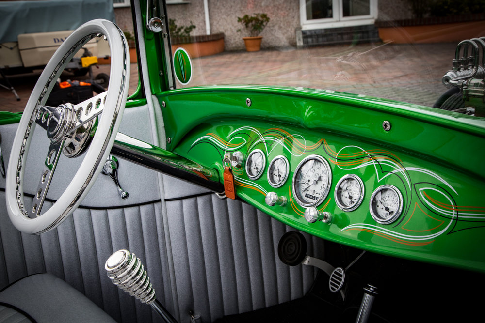 Graham Duffy Custom Hot Rod, The Green Machine. Director Andy Casey Upright Media for Barcroft TV