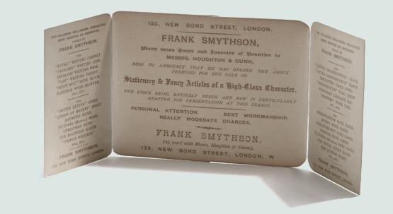 La publicidad de Smythson's, con la frase de Addison en el cierre