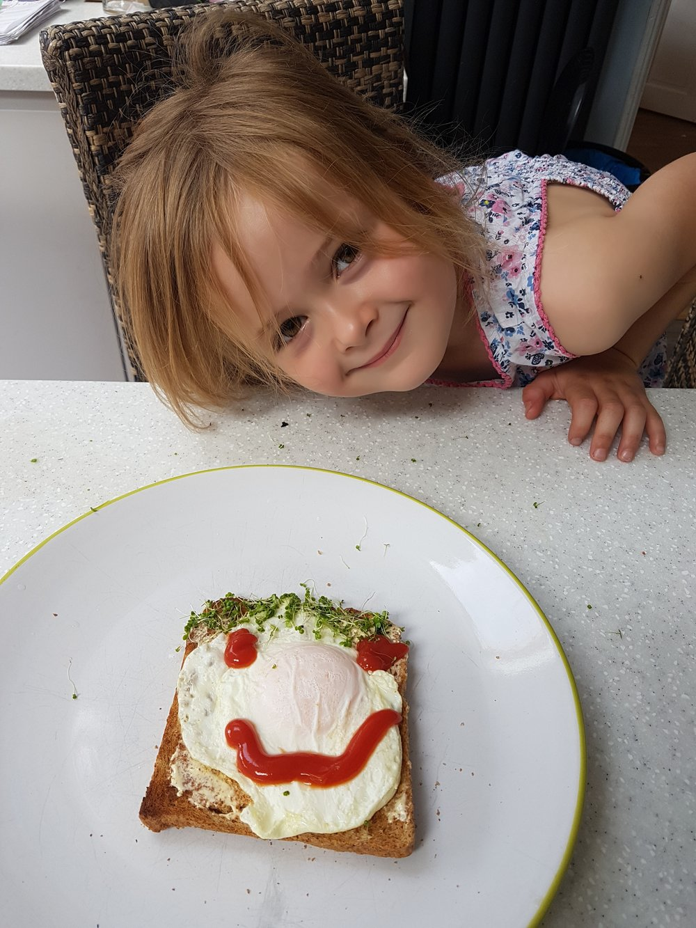 Big smiles all round. Runner up Sophie her fantastic eggy-entry