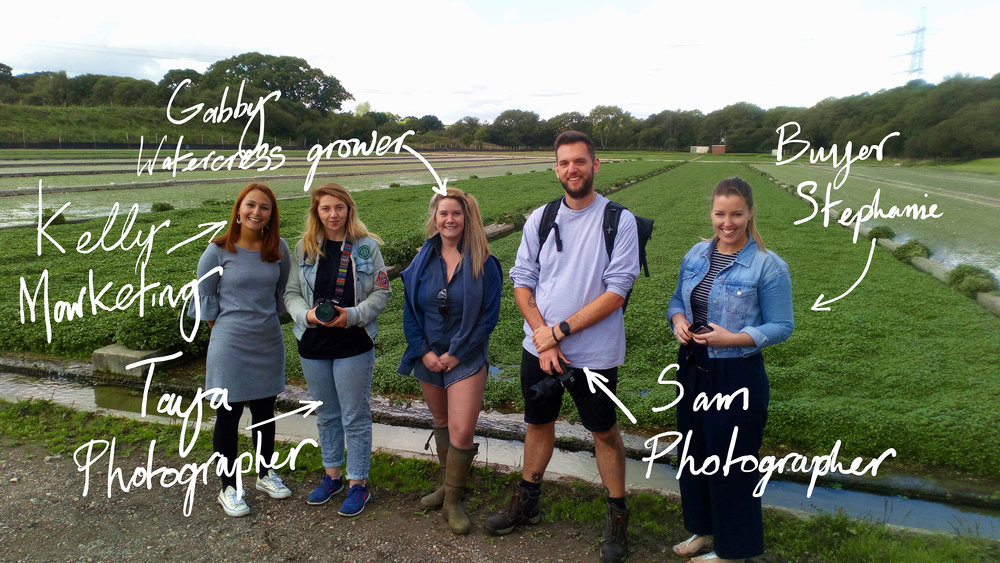 The team from LUSH HQ visit to learn about how we grow watercress