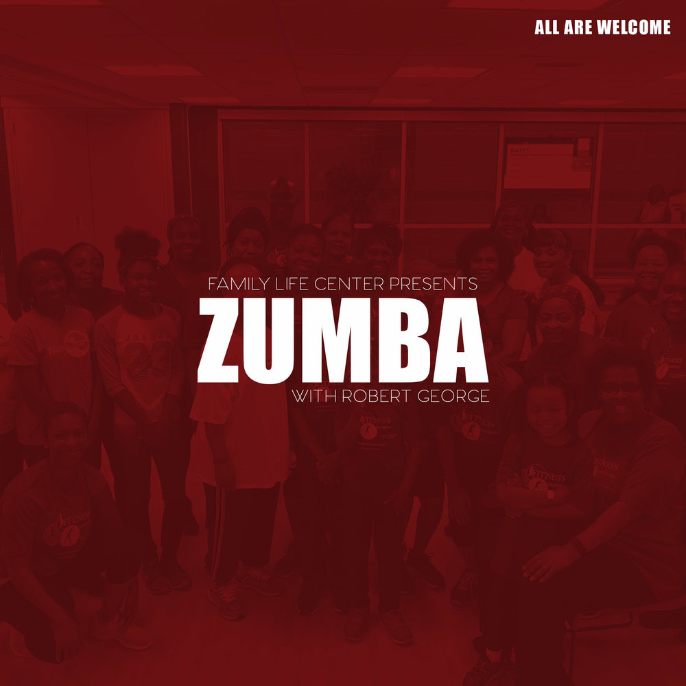 "Zumba is a Latin and world dance inspired workout, combining cardio, muscle conditioning, balance and flexibility, and boosted energy. We take the ""work"" out of workout, by mixing low-intensity and high-intensity moves for an interval style, calorie-burning dance fitness party. This class is suitable for all fitness levels."