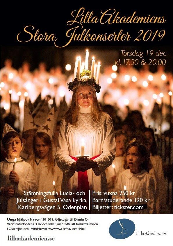 Lilla Akademien   Julkonsert i Gustav Vasa Kyrka