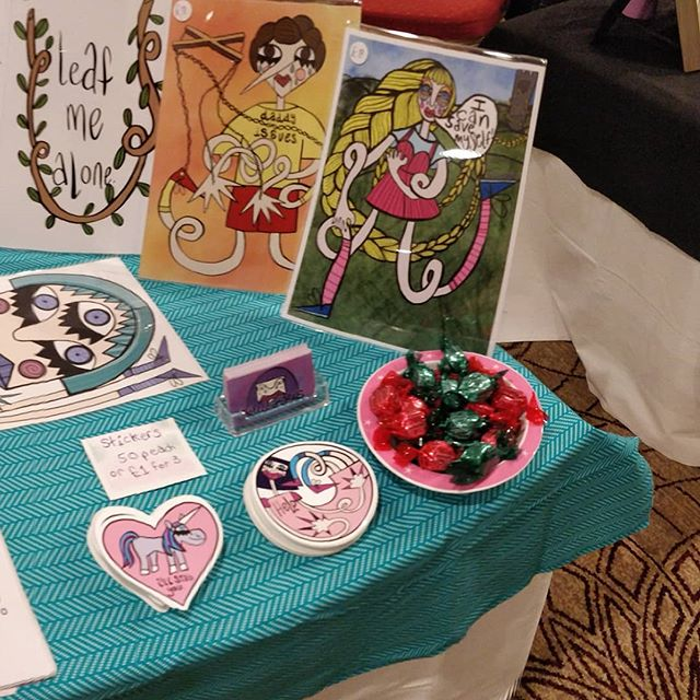 I'm at another craft fair today in Bracknell @hiltonbracknell come say hi! ❤️ . . . . . . . #illustration_daily #illustratorsoninstagram #artfair #illustrationartists #illustrator #artist #veganartist #veganartshop #craft #craftfair #shoplocal