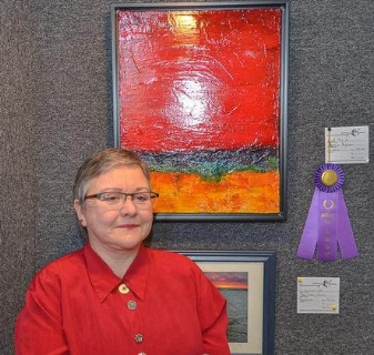 Connie Ryman wins first prize at the  2018 Spotlight on the Arts
