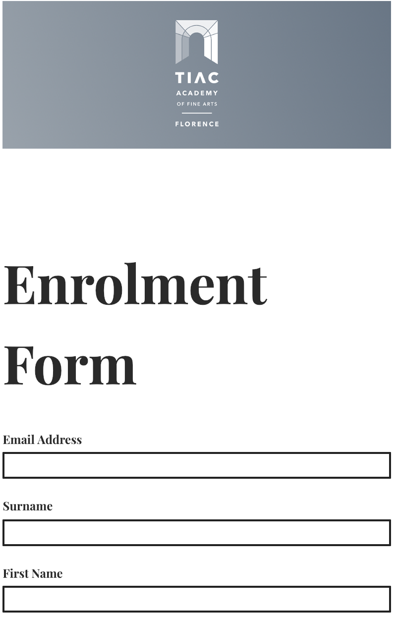 Begin enrolment now -