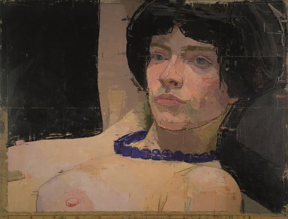 Euan Uglow's paintings retain the evidence of his obsessively measured approach. His fascination with visual reality is transmitted to the audience, and with it sense of both how simple and how subtle linear, spatial, tonal and colour relationships can be.