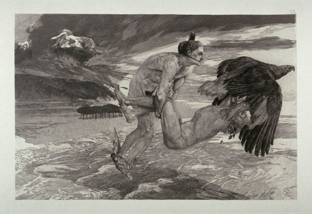 """""""The Abduction of Prometheus"""" by Max Klinger"""