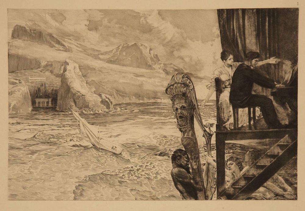 """""""Brahms Phantasie"""" by Max Klinger"""