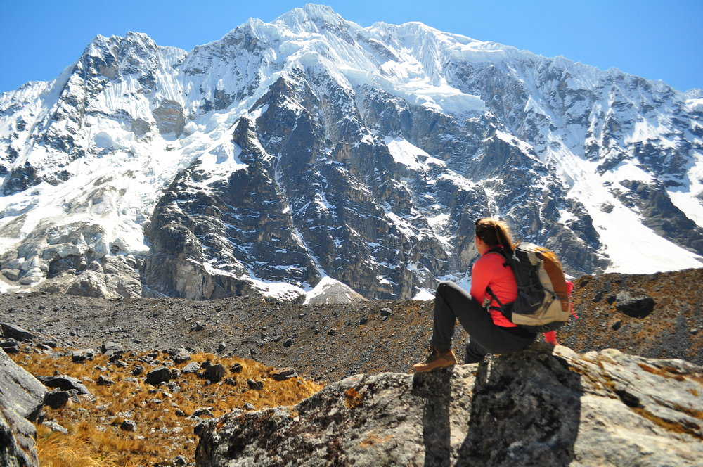 From the top of the Salkantay Mountain Trek in Peru (altitude of 4600m), this was Stephanie's amazing 4 day hike, but one of the most mentally and physically difficult hikes she has ever done.