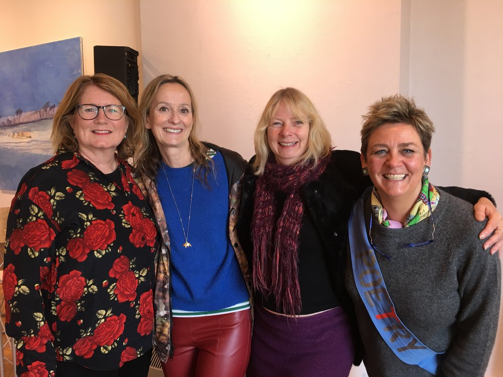 Briony Bax, Lisa Kelly, Sue Burge and yours truly