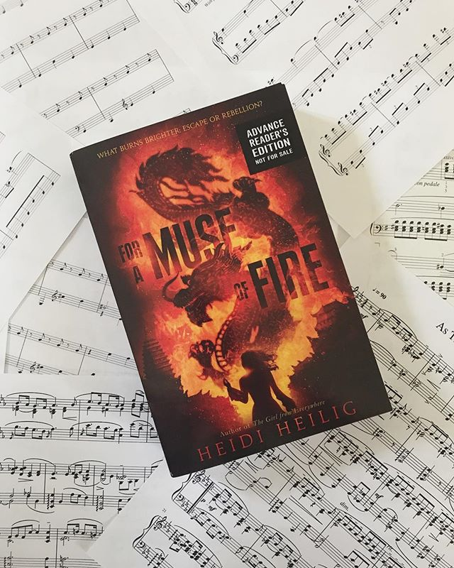 🎶🎶🎶 for anyone who didn't see my (nearly incomprehensible) reaction to receiving this GORGEOUS bookmail on my insta stories yesterday, here it is in all its glory! 🎶 I am so unbelievably excited to read FOR A MUSE OF FIRE by Heidi Heilig! from the cover to the premise to the snippets of sheet music Heidi posted on twitter, September can't come soon enough!!! 🎶 fun fact: I've been playing the piano for 18 years (!!!) and these are a few of the pieces I'm currently working on. one is the main theme from Pride and Prejudice (2005), one of my favorite P&P adaptations.  #bookstagram #books #yalit #foramuseoffire