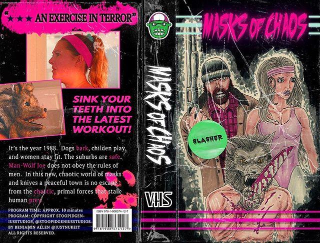 Vhs tape design for the short film #MasksofChaos 🐺🔪