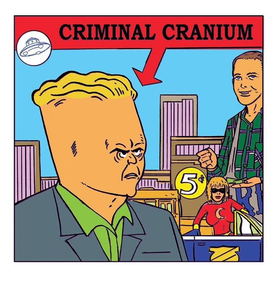Criminal Cranium by Shaky Kane