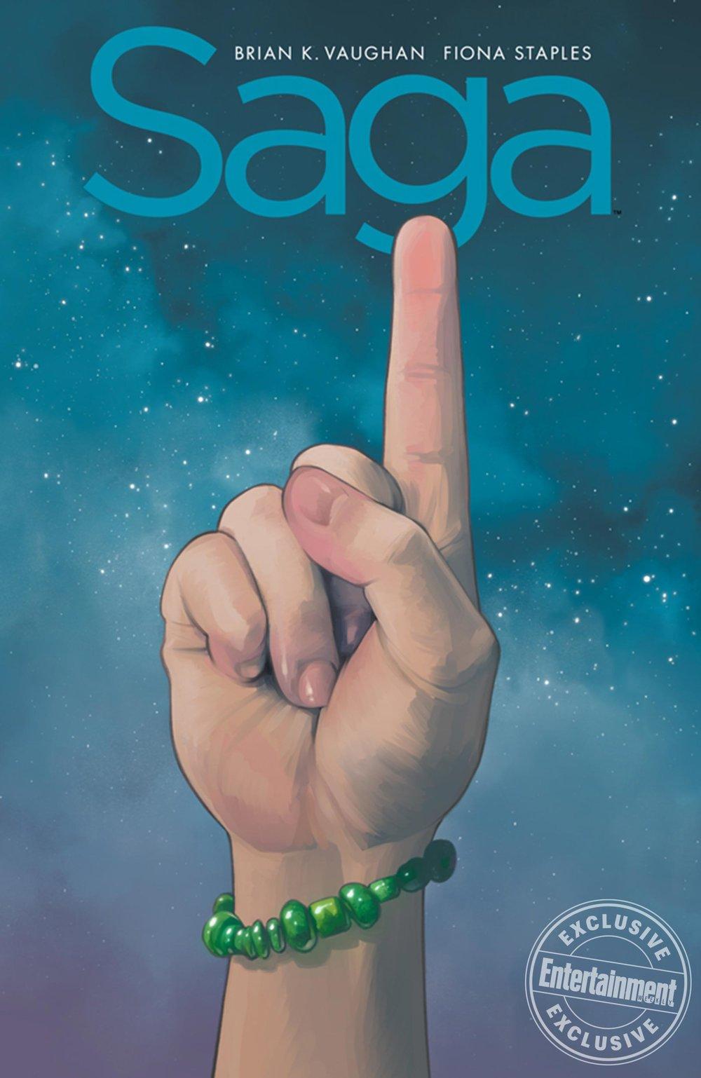 Saga: Compendium One cover by Fiona Staples.