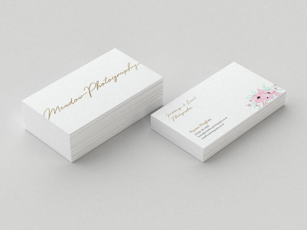 Gold foil business cards Essex