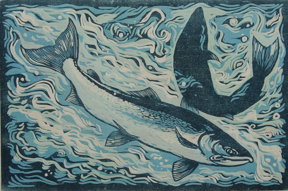'Leaping Salmon',