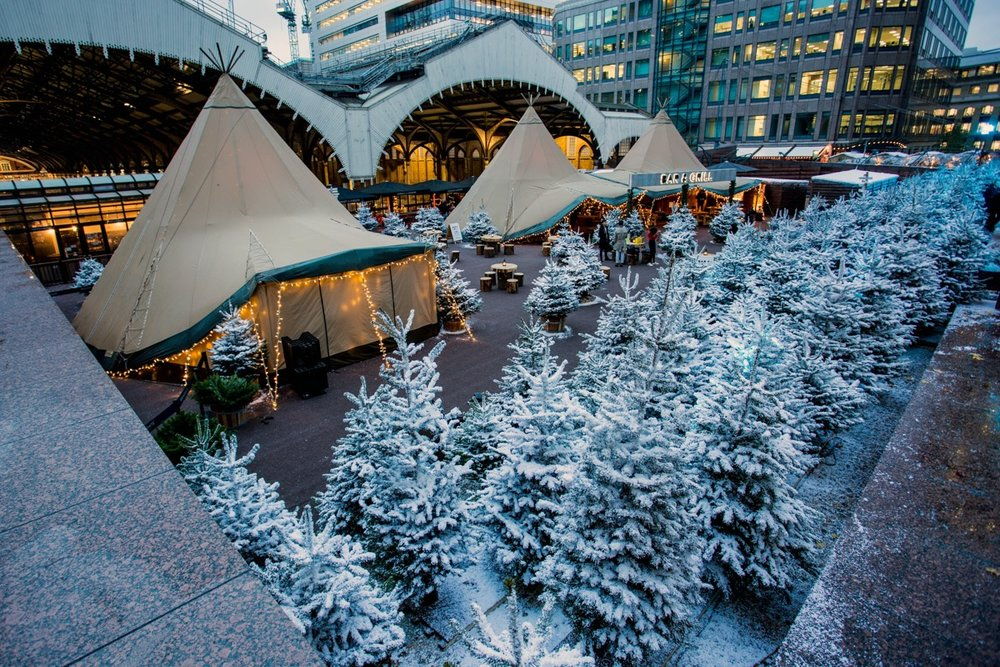 Even in winter our giant tipi tent marquees make a perfect space