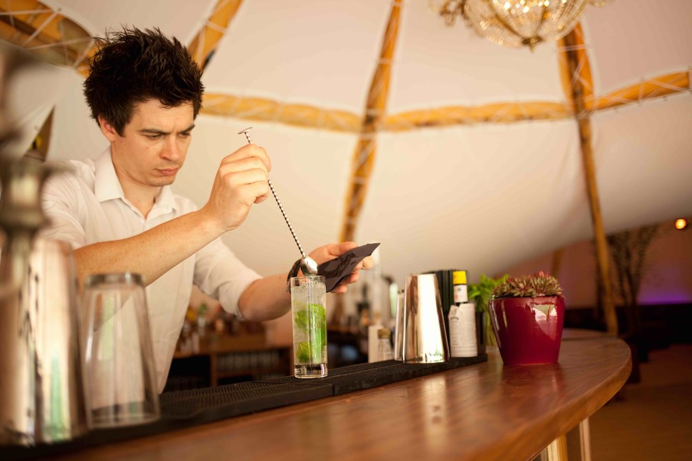 If you're looking for bar staff and a bar manager, we can help as part of your giant event tipi package