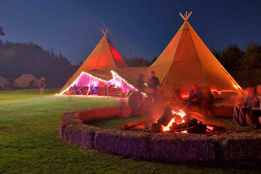 If you're looking for special effects or lighting, we can help as part of your giant event tipi package for your wedding, party or corporate event