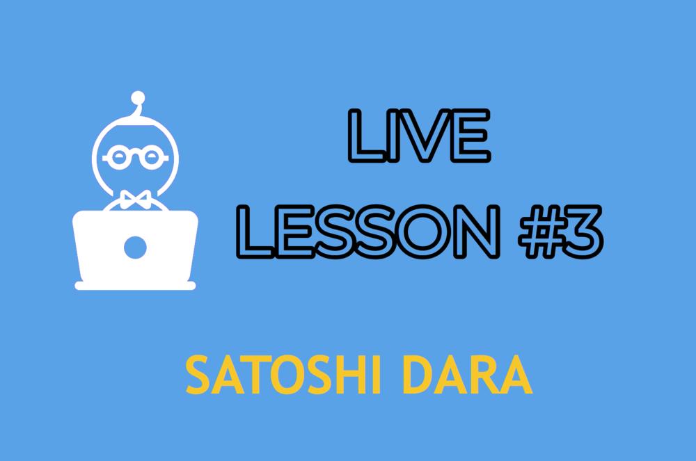LIVE LESSON 3    ENTER