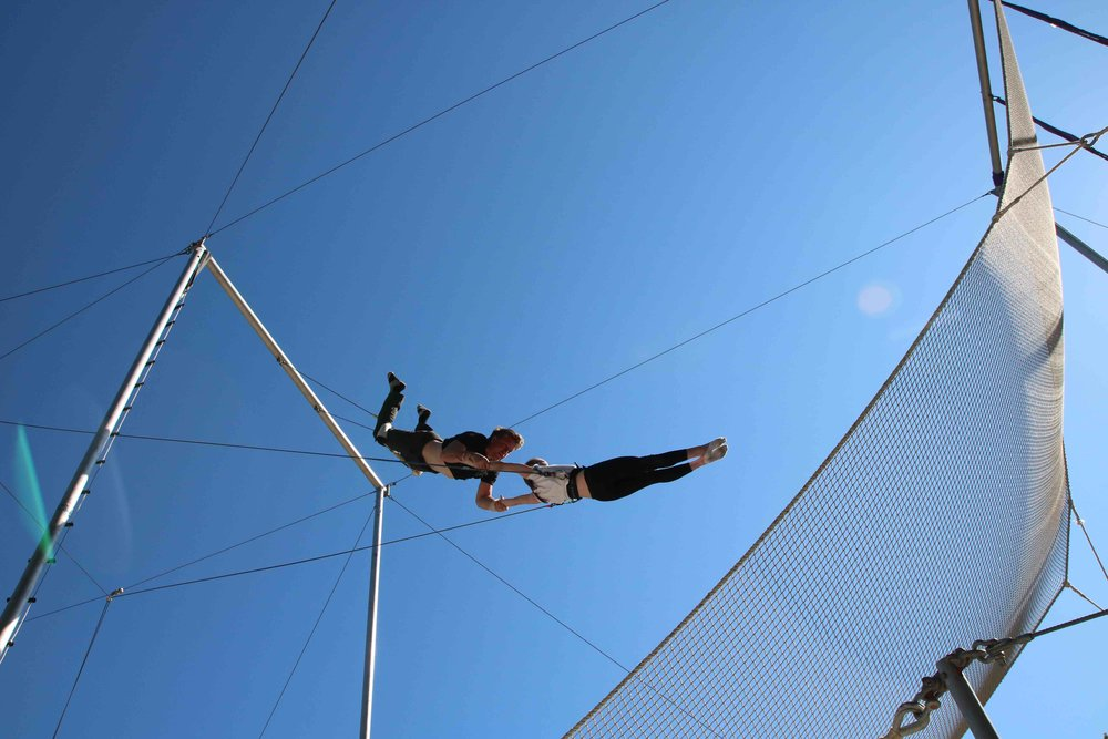 flying trapeze in the park