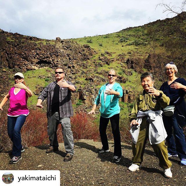 Another great walk with our @yakimataichi class! •  What an amazing day practicing taichi in Cowiche Canyon. We spotted marmots, red tailed hawks, gold finches, and plenty of bright wildflowers along our walk. The sound of the creek and the feel of the wind made for a deep and restful practice. We'll be headed out on Tuesday and Thursday of next week, so message us on Instagram/Facebook or give us a call at 509-457-5462 for more details! #yakima #taichi #cowiche #cowichecanyon #cowichecanyontrail #cowichecanyonconservancy #yakimavalley #taichichuan #taichiquan #taiji #taijiquan #taijichuan #relaxation #meditation #walking #restful #breath #breathe #retired #retirement #retiredlife #gentle #fun #fitness #community