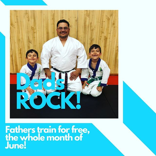 Dads, don't think for a minute we forgot about you! We have so many awesome fathers at YSK, that we're giving you all the month of June for free! That includes any of our adult karate, taichi, or kickboxing classes. Thanks for all you do, we'll see you on the mats! #fathers #day #fathersday #yakima #karate #taichi #kickboxing #dads #sons #daughters #thankful #fun #fitness #training #hardwork #parent #parenting #motivation #community #friends